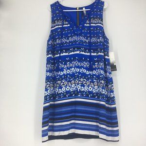 Kensie Patterned and Striped Dress